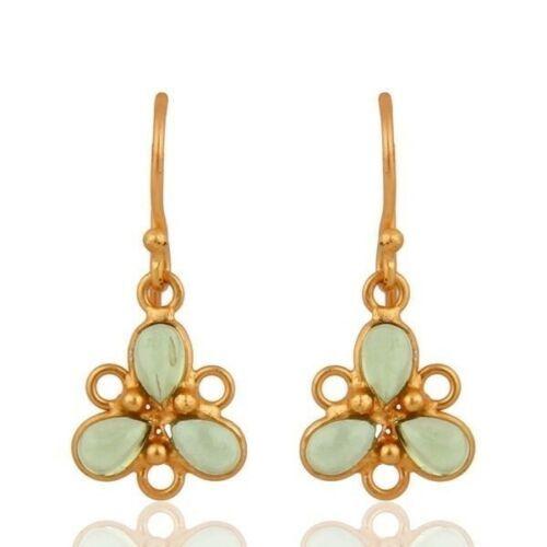 Natural Peridot Gemstone Jaipur Jewelry Sterling Silver Bezel Set Drops Earrings