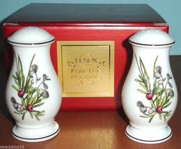 Lenox Etchings Salt & Pepper Shakers Set Made in USA Retail $100 Boxed NEW - $35.90