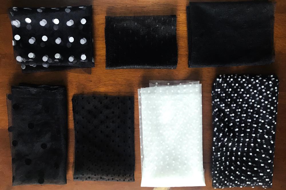 Black dot pattern tulle