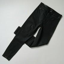 NWT Joe's Jeans Bella in Black Coated Zip Hem High Rise Skinny Ankle 26 - $52.00