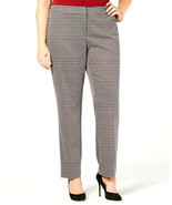 Nine West Women's Porto Multi Houndstooth Tapered Leg Pants Plus Size 20... - $19.05