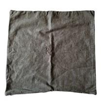 "Lauren Ralph Lauren Square Pillow Sham 21"" Brown Zip Close Single - $34.99"