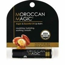 Moroccan Magic Argan & Essential Oil Lip Balm, Peppermint Eucalyptus, Or... - $3.99
