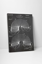 Slinky Toy Patent Print Gallery Wrapped Canvas Print. Bonus Wall Decal! - $44.50+