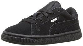 PUMA Suede Kids Sneaker (8 Toddler Toddler (1-4 Years) Black/Puma Silver) - $62.62