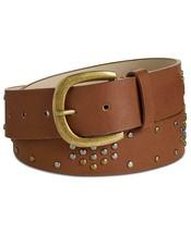 INC Women's Cognac Non Leather Studded Belt Size M - $9.04