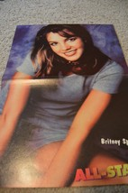 Britney Spears teen magazine poster clipping Bop Teen Beat Opps I did it again
