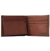 Levi's Men's RFID Blocking Credit Card ID Bifold Brown Logo Wallet 31LV22010 image 3