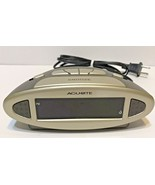 Chaney Instruments Acu-Rite 13027A1 Alarm Clock Electric and Battery Bac... - $7.65