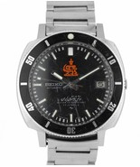 RARE Seiko Iranian Royal Army Diver Stainless Steel Black Date Watch 700... - $4,244.44