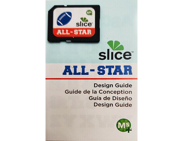 Slice ALL-STAR Design Card and Design Guide, Scrapbooking & Card Making