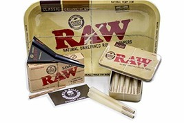 Bundle 4 Items:Raw King Size Cones  15 count + Raw Loader + Raw Rolling Tray+Raw