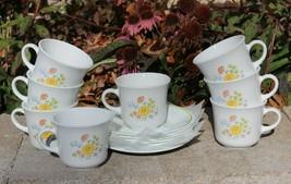 Corelle Corningware Meadow Set 7 Coffee Cups, 8 Saucers w/Creamer - $49.99