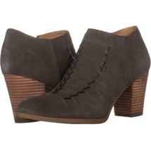 Franco Sarto Dimona Stitched Ankle Boots 991, Grey Suede, 11 US / 41 EU - $30.71