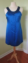 INC International Concepts Silk Sleeveless Blue Sequined Dress 2 lined s... - $22.44
