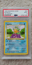 Pokemon Squirtle 63/102 1st Edition Base Set PSA 9 1999 TCG Game Shadowless - $69.99