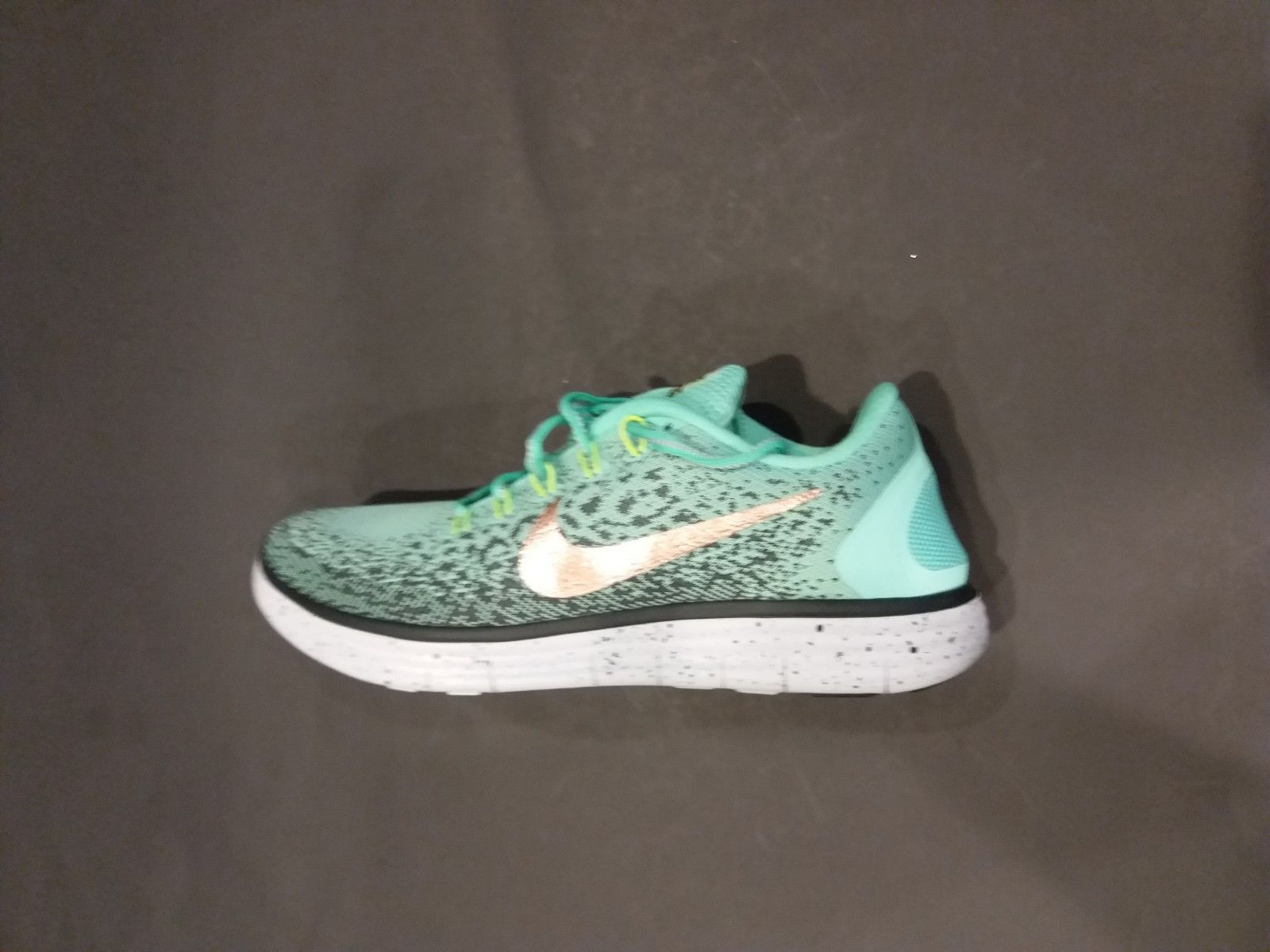 bfb872efc128c 57. 57. Previous. New Womens Nike Free RN Distance Shield Shoes in Green  Glow 849661 300 ...