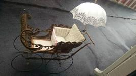 Antique VICTORIAN WICKER PRAM BABY CARRIAGE/Stroller - $495.00