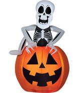POP-UP SKELETON PUMPKIN Halloween Airblown Inflatable Yard Decoration b... - $78.99