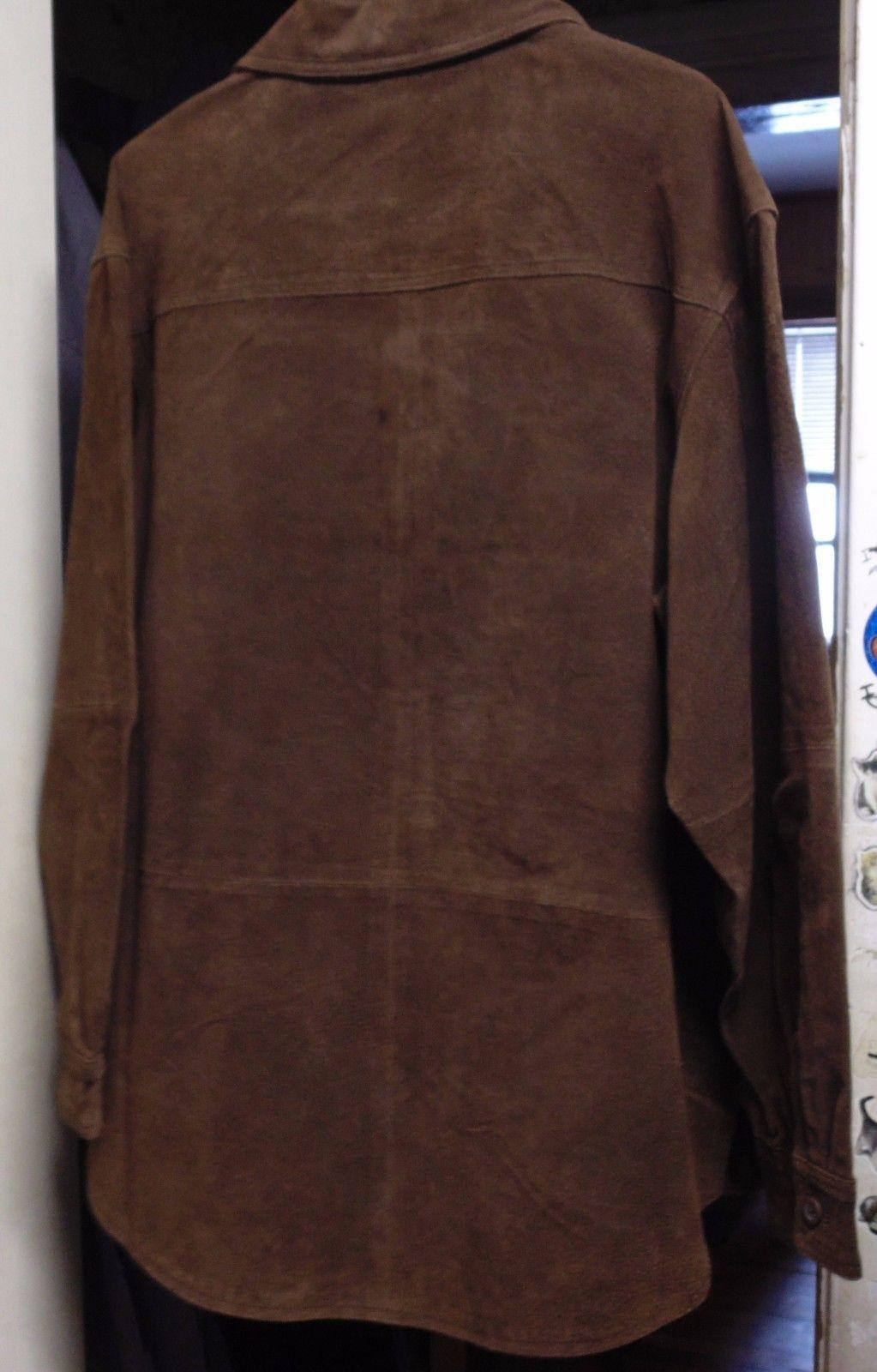denim&co jeans wear women's leather jacket  size large  stiff heavy leather