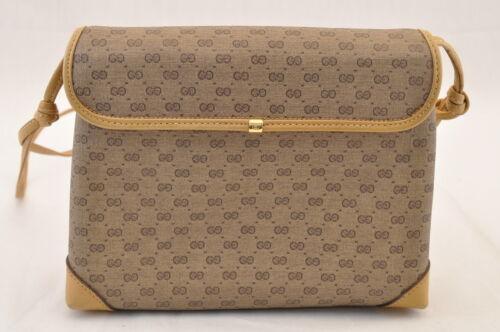 GUCCI GG Canvas Shoulder Bag Brown PVC Leather Auth sa1823 **Powder image 3