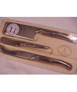 Laguiole Jean Dubost All Stainless Steel 3pc Cheese Knife Set in Tray - $31.00