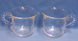 IMPERIAL CANDLEWICK CREAMER AND CLEAR CUP MUG CRYSTAL - $10.84