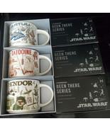 NWT-Star Wars Starbucks Been There Series Mug Set Of 3 Tatooine, Batuu &... - $89.09