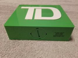TD BANK Original Green Plastic Piggy Coin Money Bank 2013 BRAND NEW - M - $18.95