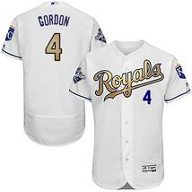 Champions Gold Kansas City 6 Alex Gordon Jersey KC Royals Men Baseball M... - $45.99