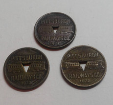 1922 Pittsburgh Railways Co. Good For One Fare Transportation Token - $5.40