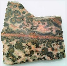 Leopard Skin Jasper 4 Gemstone Slab Cabbing Rough - $4.60