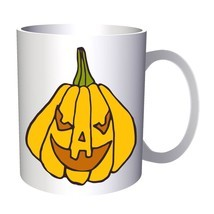 Crazy Halloween Pumpkin 11oz Mug q216 - £8.31 GBP