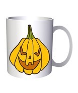 Crazy Halloween Pumpkin 11oz Mug q216 - £8.24 GBP
