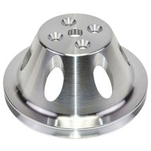 Chevy Small Block Single-Groove Aluminum Short Water Pump Pulley image 5