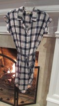 Anthropologie Cloth & Stone Shirtdress Plaid Button Front Dress Sz S $120+ - $97.02