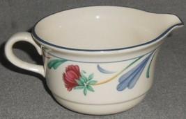 Lenox Chinastone Poppies On Blue Pattern 8 Oz Creamer Made In Usa - $14.84