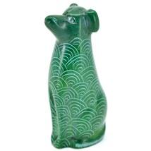 Tabaka Chigware Hand Carved Kisii Soapstone Green Puppy Dog Figurine Kenya image 2