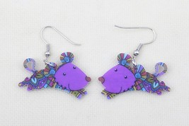 1 pair mouse cute lovely printing drop earrings acrylic new 2014 design ... - $10.00