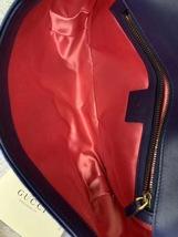 NEW Authentic GUCCI MARMONT MEDIUM ROYAL BLUE VELVET FLAP BAG  image 9