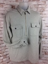 Vintage Ralph Lauren Sport Mens Sz M Long Sleeve Cotton 1/2 Zip Polo Shi... - $28.95