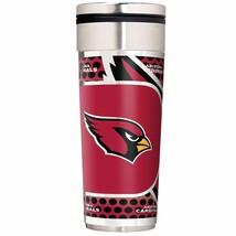 Arizona Cardinals 22 oz Stainless Steel Travel Tumbler Metallic Graphics... - $23.75