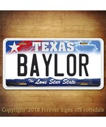 Baylor Texas Waco City/College Aluminum Vanity License Plate Tag New - $12.82