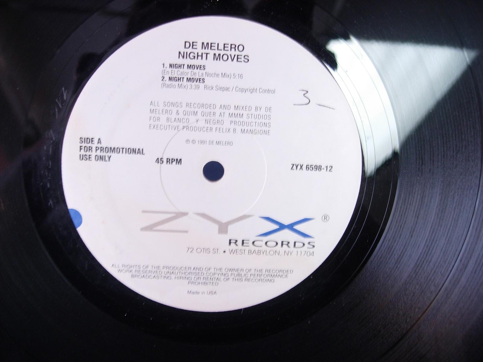 De Melero - Night Moves - ZYX Records ZYX 6598-12