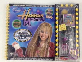 Hannah Montana My Secret Superstar Style Spiral Bound Disney Craft Book New - $9.95