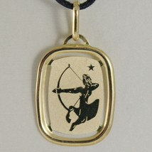 SOLID 18K YELLOW GOLD SAGITTARIUS ZODIAC SIGN MEDAL PENDANT, MADE IN ITALY - $126.00