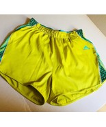 Adidas Womens Shorts Size M Yellow Running Gym Track Soccer Athletic Cli... - $14.94