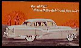 1953 Buick Orig Million Dollar Ride Suspension Brochure - $6.19