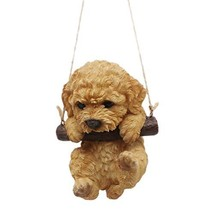CITONG Resin Puppy Dog Hanging Figurine Garden Home Wall Statue - $21.66