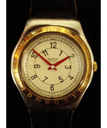 Vintage SWATCH Classic Wristwatch-Gold plated detail-AG1993 - $22.00